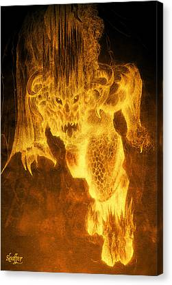 Canvas Print featuring the mixed media Balrog Of Morgoth by Curtiss Shaffer