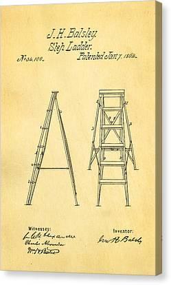Balsley Step Ladder Patent Art 1862 Canvas Print by Ian Monk