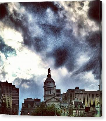 Baltimore City Hall Canvas Print by Toni Martsoukos