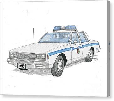 Baltimore City Police Cruiser Canvas Print by Calvert Koerber