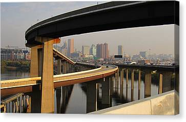 Baltimore City Unique View Canvas Print by Michael French