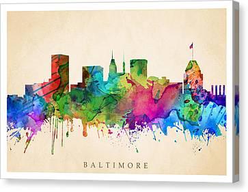 Baltimore Cityscape Canvas Print