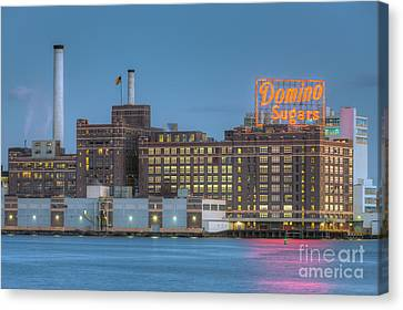 Baltimore Domino Sugars Plant I Canvas Print by Clarence Holmes