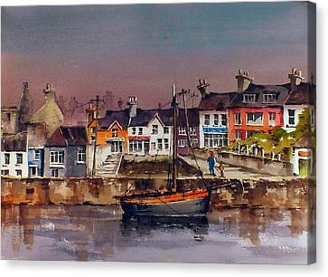 Cork Baltimore Dusk  Canvas Print by Val Byrne