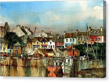 Baltimore Harbour  West Cork Canvas Print by Val Byrne