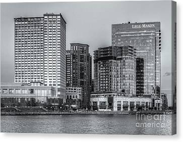 Baltimore Inner Harbor East Skyline At Twilight II Canvas Print by Clarence Holmes