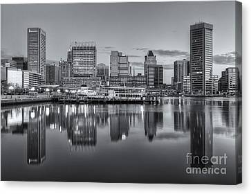 Baltimore Inner Harbor Skyline At Dawn IIi Canvas Print by Clarence Holmes