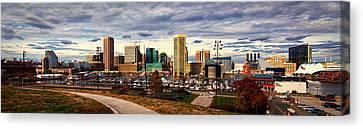 Baltimore Inner Harbor Skyline Panorama Canvas Print