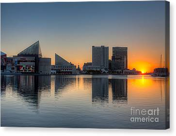 Baltimore Inner Harbor Sunrise I Canvas Print by Clarence Holmes