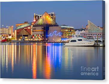 Baltimore National Aquarium At Twilight I Canvas Print by Clarence Holmes