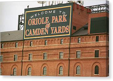 National League Canvas Print - Baltimore Orioles Park At Camden Yards by Frank Romeo
