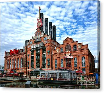Baltimore Power Plant Canvas Print by Olivier Le Queinec