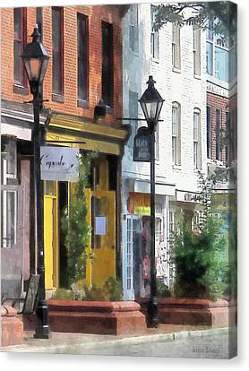Dresses Canvas Print - Baltimore - Quaint Fells Point Street by Susan Savad