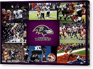 Baltimore Ravens 2 Canvas Print by Joe Hamilton