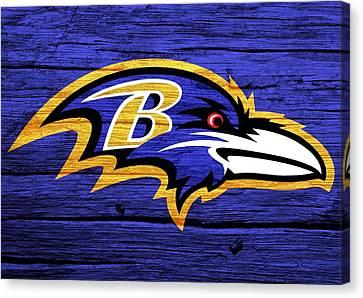 Baltimore Ravens Barn Door Canvas Print by Dan Sproul