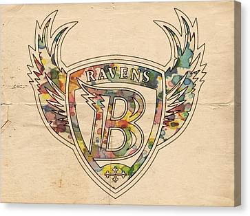 Baltimore Ravens Logo Vintage Canvas Print by Florian Rodarte