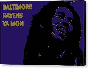 Baltimore Ravens Ya Mon Canvas Print by Joe Hamilton