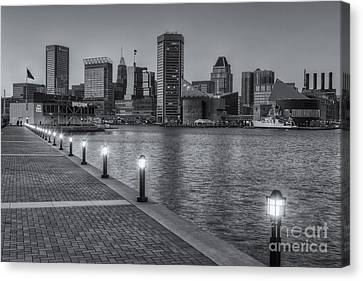 Baltimore Skyline At Twilight II Canvas Print by Clarence Holmes
