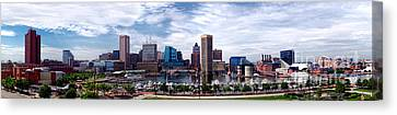 Baltimore Skyline Canvas Print by Olivier Le Queinec