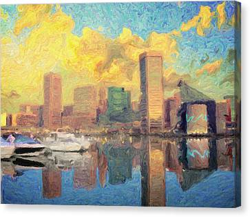 Baltimore Canvas Print by Taylan Apukovska