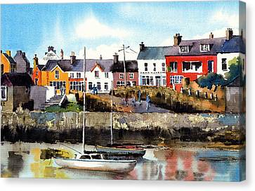 Baltimore  Yachts West Cork Canvas Print by Val Byrne