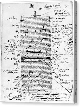 Balzac Canvas Print - Balzac La Femme Sup�rieure by Granger