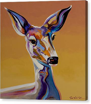 Canvas Print featuring the painting Bambi by Bob Coonts