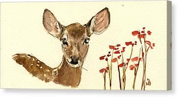 Bambi Canvas Print by Juan  Bosco