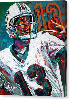 National League Canvas Print - Bambino D'oro Dan Marino by Maria Arango