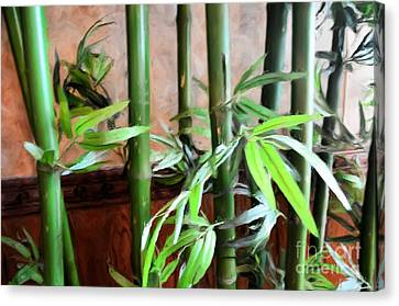 Canvas Print featuring the photograph Plant -  Bamboo  -  Luther Fine Art by Luther Fine Art