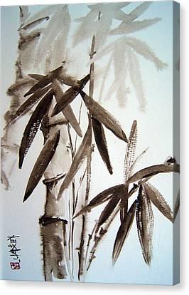 Bamboo Canvas Print by Alena Samsonov