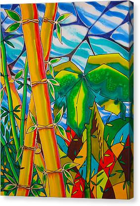 Bamboo And Banana Leaf Canvas Print by Lee Vanderwalker