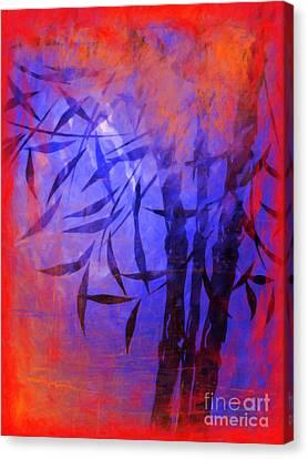 Bamboo Blue Canvas Print