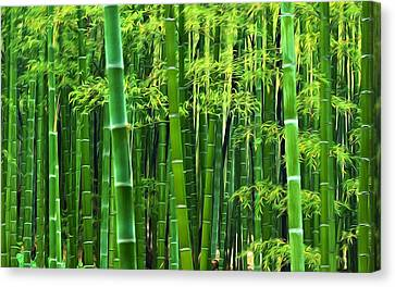 Bamboo Forest 8 Canvas Print