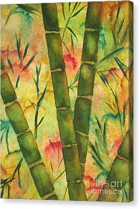 Canvas Print featuring the painting Bamboo Garden by Chrisann Ellis
