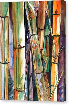 Bamboo Garden Canvas Print by Marionette Taboniar