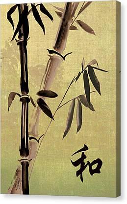 Bamboo Harmony Canvas Print by Matthew Schwartz