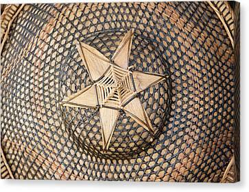 Bamboo Hat, Bohol Island, Philippines Canvas Print
