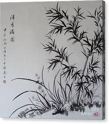 Bamboo Impression Canvas Print by Birgit Moldenhauer