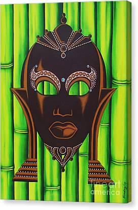 Bamboo Mask Canvas Print