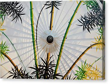 Bamboo Pattern On Painted Parasol, Bo Canvas Print