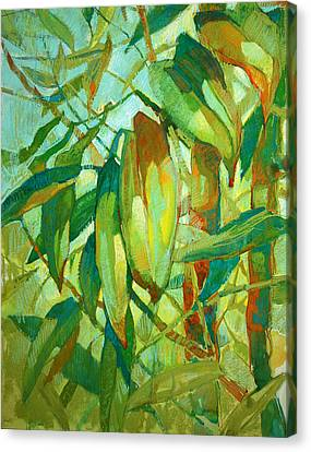 Canvas Print featuring the painting Bamboo Series by Roger Parent