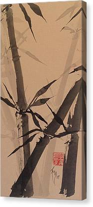 Bamboo Study #1 On Tagboard Canvas Print