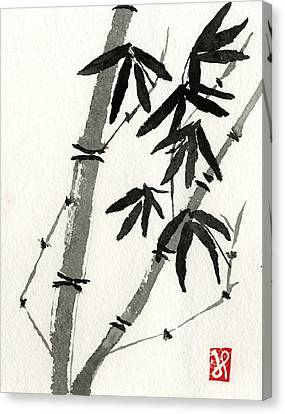 Bamboo Study 3 Canvas Print by Jamie Seul