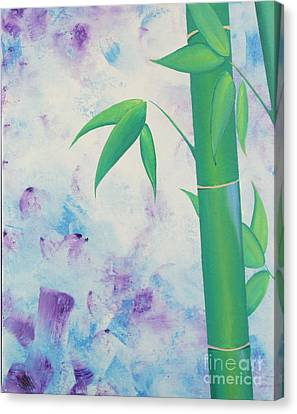 Bamboo Tryptych 1 Canvas Print