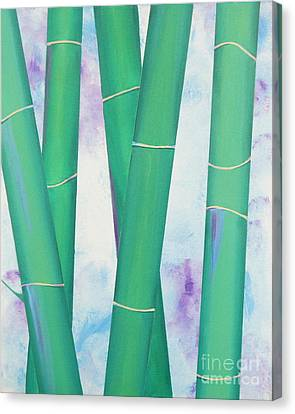 Bamboo Tryptych 2 Canvas Print