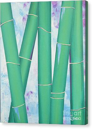 Bamboo Tryptych 3 Canvas Print