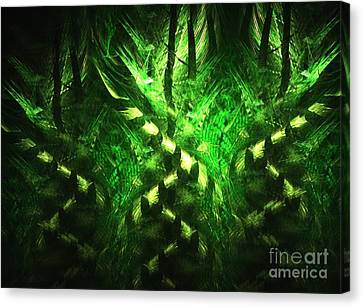 Bamboo Twist Canvas Print by Kim Sy Ok
