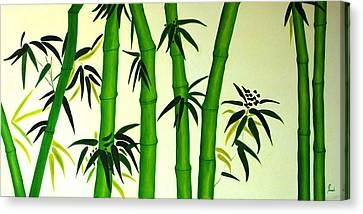 Bamboos Canvas Print by Sonali Kukreja