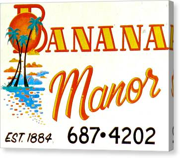 Banana Manor Canvas Print by Jeff Gater